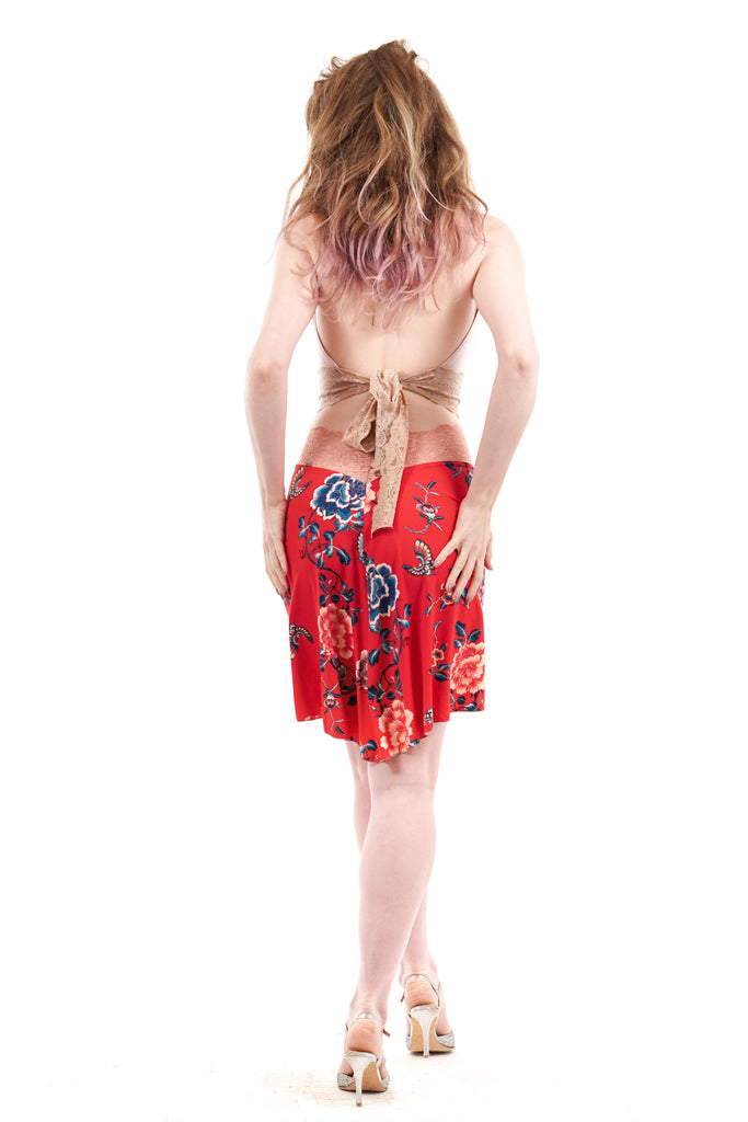 red porcelain skirt