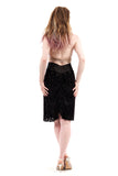 burnout damask ruched skirt
