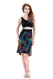 colorstreak fluted skirt