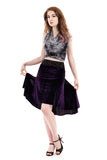the signature skirt in amethyst velvet