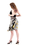 sunflower abstract circle skirt