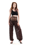 copper glimmer lace tango trousers