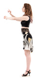 sunflower abstract skirt