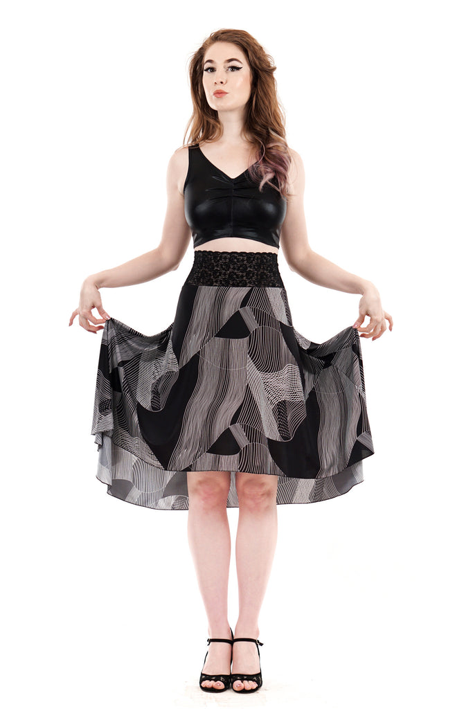 the signature skirt in lace and vectors