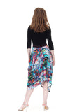 abstract paint bustled skirt - Poema Tango Clothes: handmade luxury clothing for Argentine tango