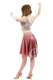 antique rose and blossom silk skirt - Poema Tango Clothes: handmade luxury clothing for Argentine tango
