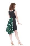 ash & brilliant green dress - Poema Tango Clothes: handmade luxury clothing for Argentine tango