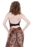 ashes of violets wrap top - Poema Tango Clothes: handmade luxury clothing for Argentine tango