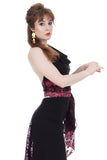 azalea flower lace wrap top - Poema Tango Clothes: handmade luxury clothing for Argentine tango