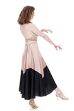 ballet & ink silk skirt - Poema Tango Clothes: handmade luxury clothing for Argentine tango