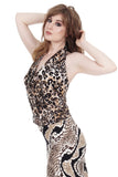 big cat draped top - Poema Tango Clothes: handmade luxury clothing for Argentine tango