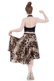 big cat silk skirt - Poema Tango Clothes: handmade luxury clothing for Argentine tango