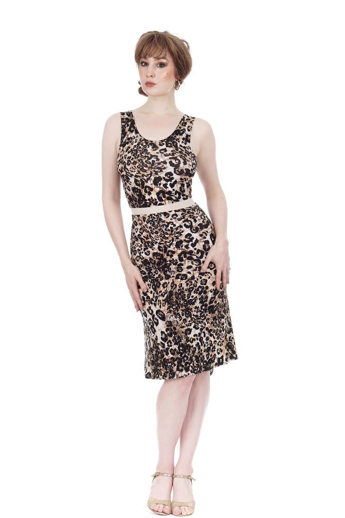 big cat tank dress - Poema Tango Clothes: handmade luxury clothing for Argentine tango