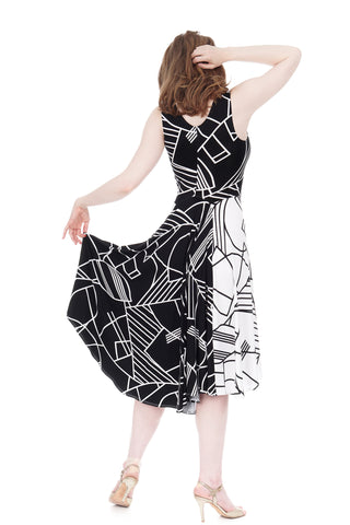 black & white moderne signature dress