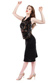 black eyelet ruched skirt - Poema Tango Clothes: handmade luxury clothing for Argentine tango