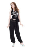 black eyelet tango trousers - Poema Tango Clothes: handmade luxury clothing for Argentine tango