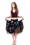 black porcelain & iridescent sequins skirt - Poema Tango Clothes: handmade luxury clothing for Argentine tango