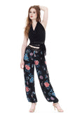 black porcelain high-waist tango trousers - Poema Tango Clothes: handmade luxury clothing for Argentine tango