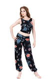 black porcelain tango pants - Poema Tango Clothes: handmade luxury clothing for Argentine tango