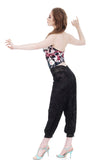 black rose burnout cropped tango pants - Poema Tango Clothes: handmade luxury clothing for Argentine tango