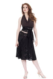 black rose burnout flared skirt - Poema Tango Clothes: handmade luxury clothing for Argentine tango