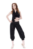 black rose burnout velvet tango pants - Poema Tango Clothes: handmade luxury clothing for Argentine tango