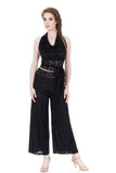 black rose burnout wide leg pants - Poema Tango Clothes: handmade luxury clothing for Argentine tango