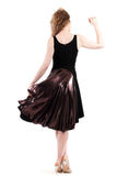 black rust & glitzy plum tank dress - Poema Tango Clothes: handmade luxury clothing for Argentine tango