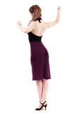 black rust and plum dress - Poema Tango Clothes: handmade luxury clothing for Argentine tango
