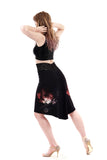 bloom-in-ink skirt - Poema Tango Clothes: handmade luxury clothing for Argentine tango