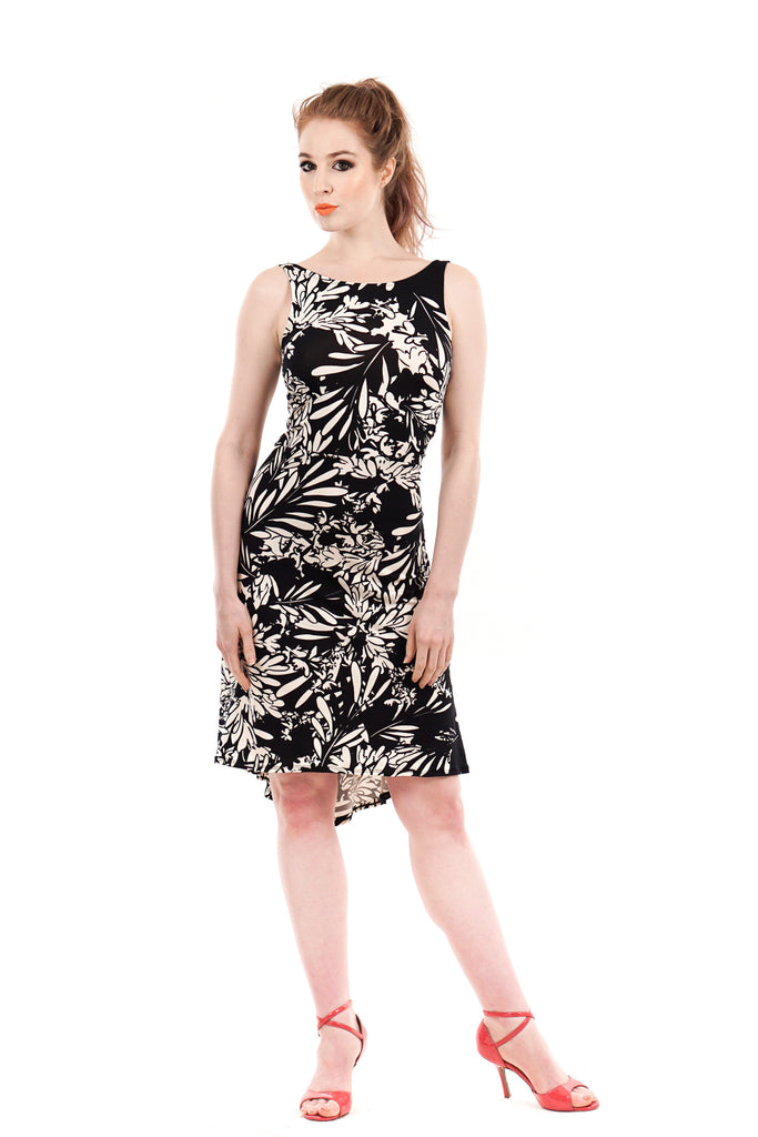 bloom silhouette dress - Poema Tango Clothes: handmade luxury clothing for Argentine tango