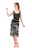bloom silhouette fluted skirt - Poema Tango Clothes: handmade luxury clothing for Argentine tango