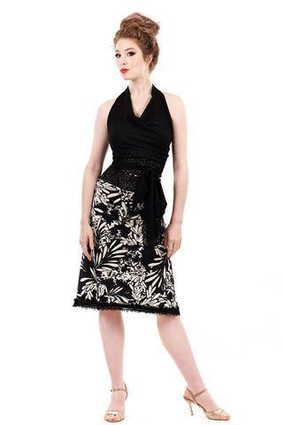bloom silhouette ruched skirt