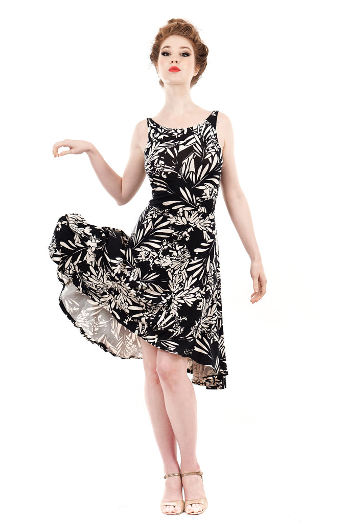 bloom silhouette signature dress - Poema Tango Clothes: handmade luxury clothing for Argentine tango