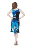 blue danube ruched dress - Poema Tango Clothes: handmade luxury clothing for Argentine tango