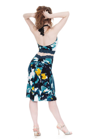blue dreams ruched skirt