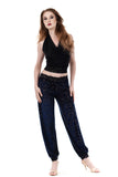 blue firulete burnout tango trousers - Poema Tango Clothes: handmade luxury clothing for Argentine tango