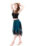 blue gleam circle skirt - Poema Tango Clothes: handmade luxury clothing for Argentine tango
