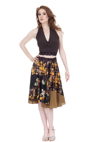 boughs of gold circle skirt