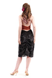 burnout medallion velvet ruched skirt - Poema Tango Clothes: handmade luxury clothing for Argentine tango