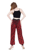 burnout velvet roses tango trousers - Poema Tango Clothes: handmade luxury clothing for Argentine tango