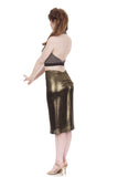 burnt gold ruched skirt - Poema Tango Clothes: handmade luxury clothing for Argentine tango