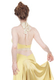 buttercup & gilded lace high-neck halter - Poema Tango Clothes: handmade luxury clothing for Argentine tango