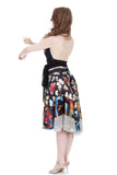 butterflies & sequins circle skirt - Poema Tango Clothes: handmade luxury clothing for Argentine tango