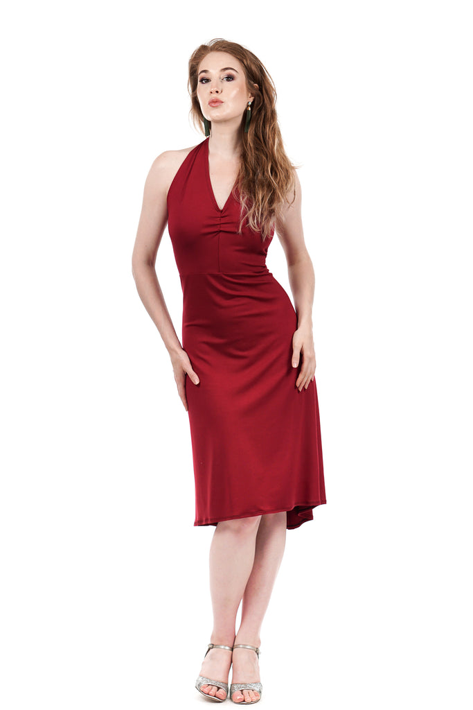 cabernet dress - Poema Tango Clothes: handmade luxury clothing for Argentine tango