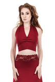 cabernet ruched halter - Poema Tango Clothes: handmade luxury clothing for Argentine tango