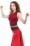cabernet signature halter - Poema Tango Clothes: handmade luxury clothing for Argentine tango