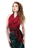cabernet wrap top - Poema Tango Clothes: handmade luxury clothing for Argentine tango