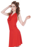 cardinal draped halter - Poema Tango Clothes: handmade luxury clothing for Argentine tango