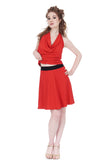 cardinal flared skirt - Poema Tango Clothes: handmade luxury clothing for Argentine tango